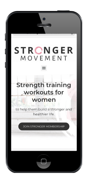 Stronger Movement App on cell phone